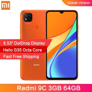 """Version mondiale Xiaomi redmi 9C Smartphone 3Go 64GB Helio G35 Octa de base 6,53"""" DotDrop Affichage 13MP caméras arrière 5000mAh"""