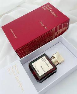 A +++ alta calidad Maison Francis Kurkdjian Baccarat Rouge 540 Extrait de Parfum Neutro fragancia floral oriental 70ml EDP calidad superior