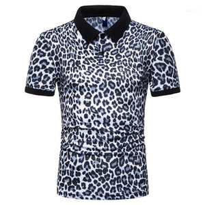 Мужской Повседневная мода рубашки поло тройники коротким рукавом Топы 2020 Мужчины Leopard Polo Summer Designer