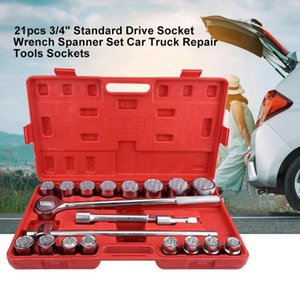"21pcs 3 4"" English Standard Socket Wrench Set Drive Socket Wrench Spanner Set Universal Car Repair Tool Ratchet"
