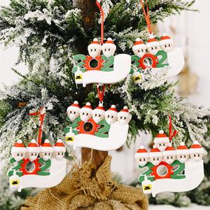 Ornament DIY Greetings Quarantine Christmas Birthday Party Pandemic Social Distancing Christmas Tree Pendant Accessories OOA9130