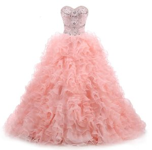 Women Sweetheart Neckline Wedding Long Party Formal Evening Dress Light Pink Quinceanera Mother Of The Bride Floor Length Gown
