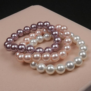 Moda fascini monili dei braccialetti dei braccialetti stile semplice Perle fatta dalle coperture naturali cavigliera braccialetto per le donne