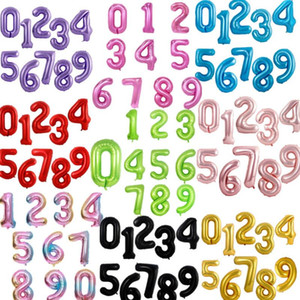 40 inch Large number balloon 1 2 3 4 5 Number Digit Helium foil Ballons Baby Shower Birthday Party Wedding Decor Supplies OWF1955