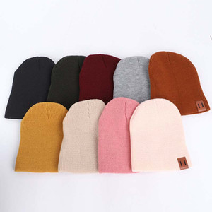 2PCS Knitted Winter Hat Kids Girls Hat Mother Daughter Family Matching Children Hats And Caps Winter Newborn Baby Beanie