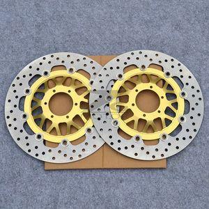 Frente Brake Disc Rotor Brake Pad Para CBR600 F FX 1999-2000 CBR600F4 99-00 2001 01 Htes #