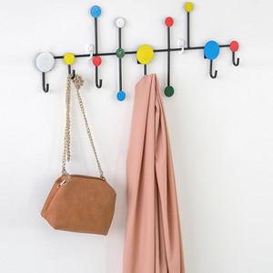 Nordic Parete Cappello Abbigliamento appendiabiti creativo Rack Porta d'ingresso Porta Parete del metallo decorazione di DIY appendiabiti Bag chiave Ganci