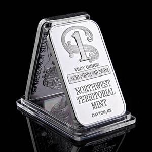 YENİ LISTING Kuzeybatı Bölgesel Nane Para Toplama 1oz İnce Gümüş Bar 50 x 28 Mm Vakum Plastik Ambalaj