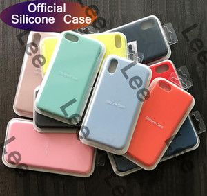 2020 neues Modell Original Silikon-Kasten für iPhone 12 Pro Max 11 Pro-Telefon-Kasten für iPhone 7 8 Plus mit Kleinkasten