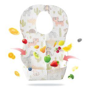 10pcs младенца Одноразовые Нагрудники для кормления Слюна полотенце Детский водонепроницаемый Райс Eatting Карманный Bib Дети Портативный Out Accessoires