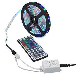 SMD Color LED Decorative Lighting Changing LED Strip Light with Remote Controller Indoor String Lights Car Lights