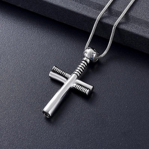 Tone LKJ12238 Design unique en acier Croix Collier pour Crémation Hommes Femmes Ashes Urn Médaillon Keepsake Bijoux