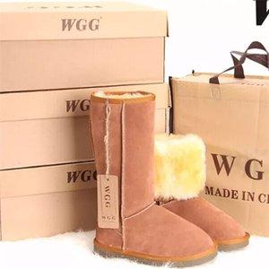Heißen Verkauf 2018 Qualitäts-WGG Frauen klassische hohe Stiefel Damen Stiefel Stiefel Schnee Winter Lederstiefel US-GRÖSSE 5 --- 11