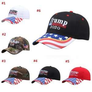 Trump 2020 Baseball Cap Cotton Outdoor Sports Sunshade Event Party Hat Keep America Great Again Promote the Trump Hat DHC301