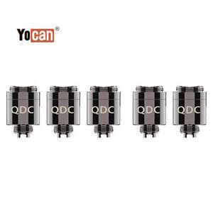 Authentic Yocan Armor Coil Head Replacement QDC Atomizer Core Quartz Dual Coil Vape Tank for Vaporizer Kit 100% Original