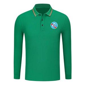 2020 camisa de manga larga de los hombres de RC Strasbourg Moda Deportes Fútbol Polo Polo Camisa tendencia alta de solapa POLO de negocios
