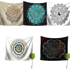 Bohemian Mandala Tapestry Wall Hanging Carpet Home Hippie Decorative Tapestry Background Cloth