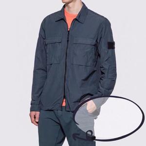 Fashion-overshirt fibra di nylon TELA TOPST0NEY lavoro di modo giacca camicia cappotto uomini donne dell'isola Mens Windbreaker manica lunga giacca di pietra