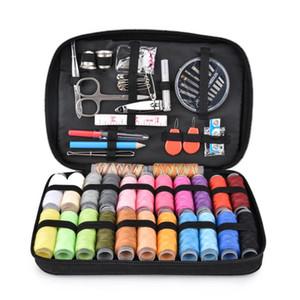 Sewing DIY Box Kit Needlework Tools Sewing Supplies Organizer Travel Bag Thread Needles Tweezer Tailoring Tape Storage
