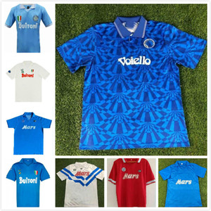 87 88 Retro napoli soccer jersey classic shirts Maradona 1987 1988 Napoles jerseys Giordan MAGICA 1926 Napoli Retro football shirt