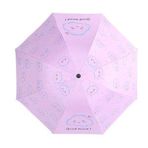 Rainy Mood creativo pieghevole Ombrellone Sun antipioggia Buon Ombrello Yd138 design Nuvole protezione UV Yada nube modello Umbrella LFXUr
