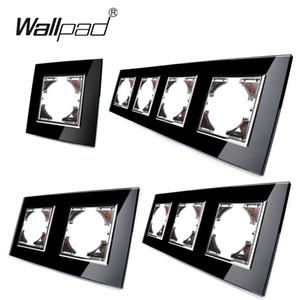 Switch ve Soket Wallpad L6 Serisi için Modül Kristal Çerçeve için DIY AB Cam Çerçeve L6