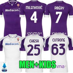 20 21 maillots de football Fiorentina Amrabat 2020 2021 Milenkovic Ribéry B.VALERO C.Kouame CHIESA Cutrone chemise de football kit DUNCAN hommes enfants