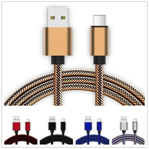 Type C Cable Nylon Braided Usb C Micro usb cable 1m 2m 3m cables for samsung galaxy s6 s7 edge s8 note 8 plus for htc android phone1312