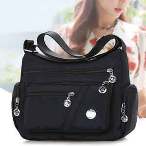 2020 Fashion Women Shoulder Messenger Bag Nylon Oxford Lightweight Waterproof Zipper Package Large Capacity Travel Crossbody Bag