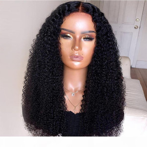 9A Pre Plucked Afro Kinky Curly Full Lace Human Hair Wigs With Baby Hair Brazilian Virgin Lace Front Wigs For Black Women