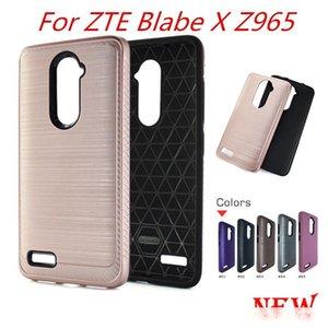 Armadura de fibra de carbono carcasas para ZTE Blade X Z965 para ZTE cuchilla z metroPCS MAX Alcatel A30 feroz METROPCS híbrido cepillado C
