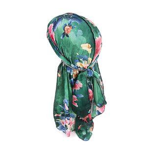 Unisex Mountaineering Scarf Floral Long-tailed Velvet Turban Cap Head Wrap Bandana Headwear Apparel Accessories dfr