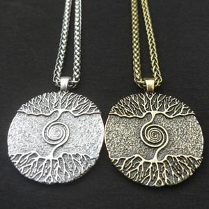 Викки Tree Of Life Yggdrasil Мир ожерелье дерева Шарм Nordic Talisman Viking Amulet Языческие Мужчины Женщины Ювелирные изделия