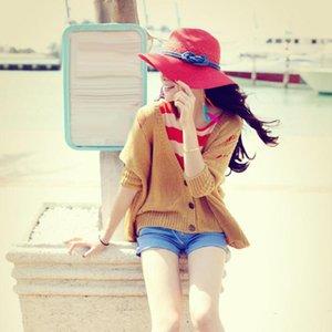 Seyahat Rahat Geniş Brim Güneş Şapkalar Kadınlar Straw Dokuma Karşıtı Güneş ışığı Güneş Şapkası Rattan Patchwork Floppy Yaz Plaj Cap
