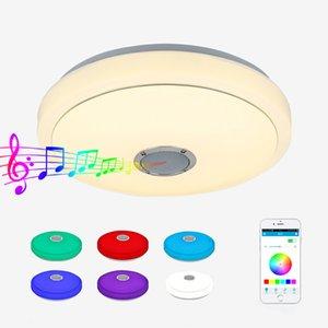 Cgjxs Bluetooth потолочное освещение водить нот Bluetooth Потолочный светильник Rgb Цветной ВЕРХНЕМУ Белый Bluetooth Audio Lighting