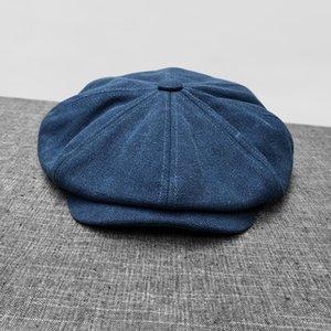 Newsboy cloth hat man gentleman beret literary blue octagonal cap to keep warm in style restoring ancient ways newsboy cap