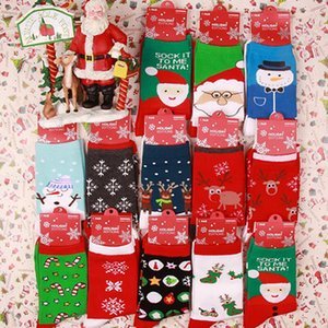 Women Winter Socks Red Christmas Sock Cute Cartoon Elk Deer Socks Cotton Keep Warm Baby Girl Boy Soft Socks IIA616
