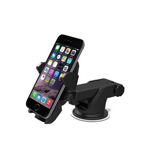 One Touch Car Mount Long Neck Universal Windshield Dashboard Mobile Phone Holder Strong Suction for Samsung S8 Plus iPhone 7 plus Retail Box