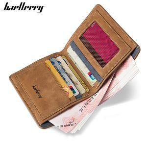 High Quality Soft Leather wallet men vintage style men wallets leather purse male holder money bag