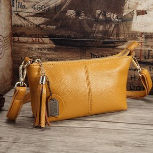 Brand Genuine Leather Women Messenger Bag High Quality Cow Leather Small Crossbody Shell Bag Mini Fashion Shoulder Bag