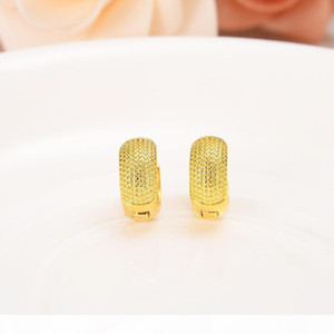 F 10k Pure Yellow Gold Gf Broadside Earring Real Italy Women &#039 ;S Flash Resplendent Girls Fashion Kids Children Jewelry