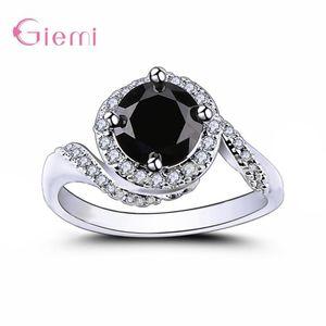 Big Discount Novel Forma Design Coreanos Mais novo estilo Genuine 925 anéis de casamento de prata elegante moda jóias para as mulheres