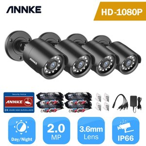 1080P HD-TVI Security Camera 4PCS 2MP Bullet Kit Outdoor Weatherproof Housing 66ft Super Night Vision Smart IR CCTV Camera