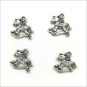 Atacado Lot 100pcs encantos bonito Donkey liga Pendant Retro Jóias Fazendo prata DIY Keychain antiga pendente para Pulseira Brincos 16x15mm