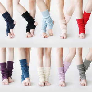 Sports Yoga Socks Womens Fashion Winter Knit Crochet Knitted Leg Warmers Legging Boot Cover for Dance Ballet Exercising Supplies