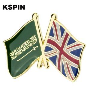 Saudi Arabia UK Friendship Flag Badge Flag Brooch National Flag Lapel Pin International Travel Pins