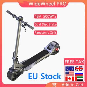 유럽 연합 (EU) 주식 2020 Mercane 와이드 휠 프로 스마트 전기 자전거 스쿠터 48V 1000W Kickscooter 듀얼 모터 전자 스쿠터 디스크 브레이크 스케이트 보드