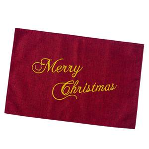 عيد الميلاد فندق المائدة حصيرة وسادة السكاكين حامل الكتان تحديد الموقع