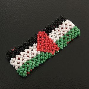 BeUrSelf Bohemian Colorful Seed Bead Elastic Stretch Bracelet Handmade Adjustable IT GB DE UAE National Flag Strand Jewelry