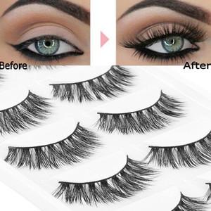 5 Pairs 100% Mink eyelashes for extension Natural Thick False Eyelashes Wispy Fluffy Long Natural Eye Lashes